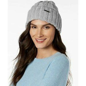 Michael Kors Super Cable Knit Cuff Logo Beanie Hat